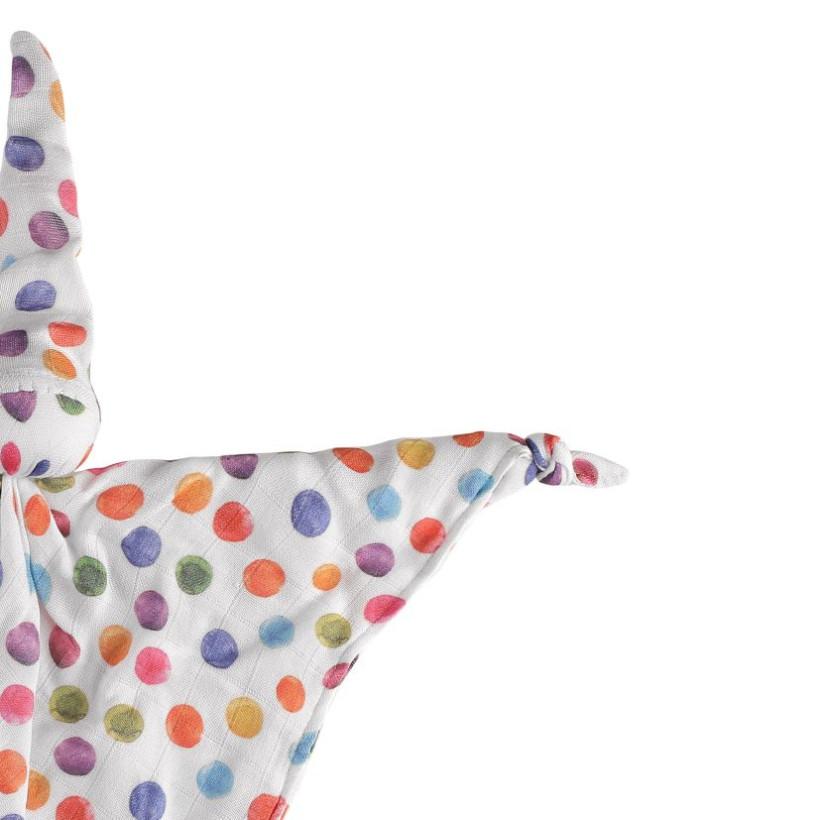 Bamboo cuddly toy XKKO BMB Digi - Watercolour Polka Dots