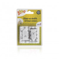 Soother Clips XKKO - Little Stars Silver MIX
