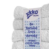 Organic cotton terry wipes XKKO Organic 21x21 - White