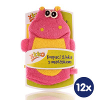 XKKO Polyester Bath Glove - Hippo 12x1ps (Wholesale pack.)