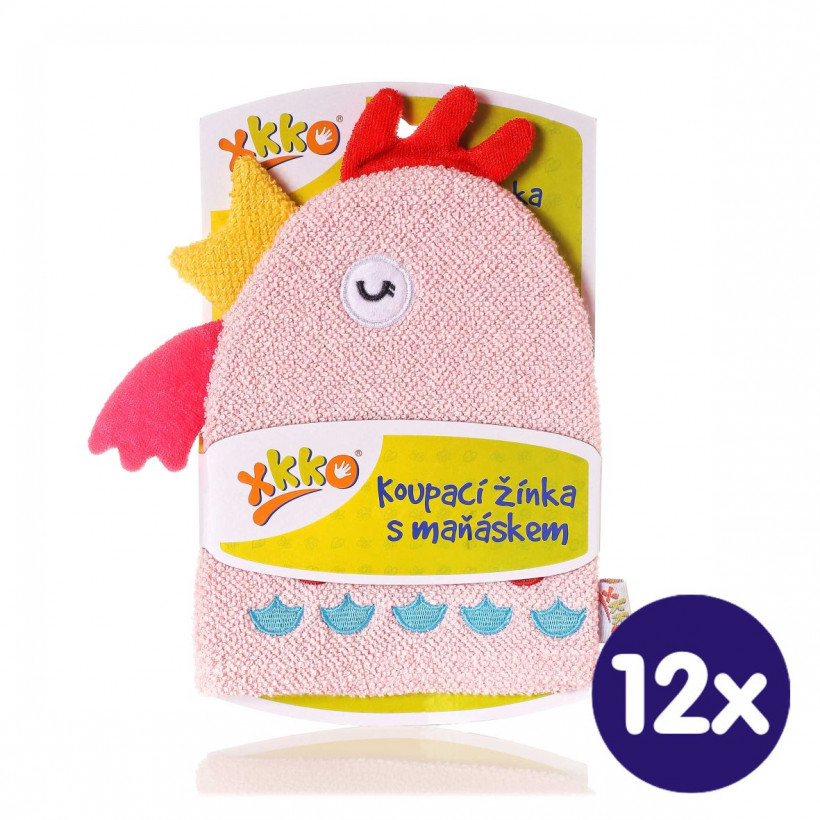 XKKO Cotton Bath Glove - Hen 12x1ps (Wholesale pack.)