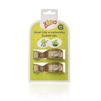 Pram Clips XKKO - Metallic Gold