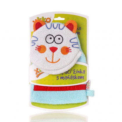XKKO Cotton Bath Glove - Cat