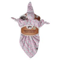 Bamboo cuddly toy XKKO BMB - Baby Pink Chevron