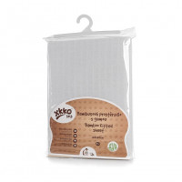 Bamboo muslin fitted bed sheet XKKO BMB 120x60 - White
