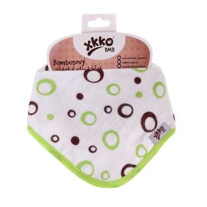 Bamboo bandana XKKO BMB - Lime Bubbles