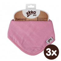 Bamboo bandana XKKO BMB - Baby Pink 3x1ps Wholesale packing