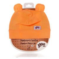 Bamboo Baby Hat XKKO BMB - Orange 3x1ps (Wholesale packaging)