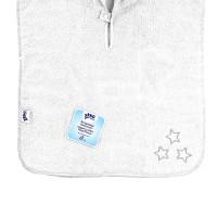 Organic cotton terry Poncho XKKO Organic - White Stars 5x1ps (Wholesale pack.)