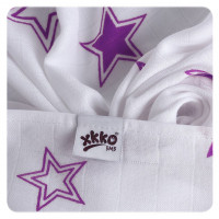 Bamboo muslins XKKO BMB 70x70 - Lilac Stars MIX 10x3pcs (Wholesale packaging)