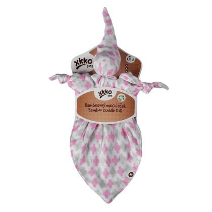 Bamboo cuddly toy XKKO BMB - Baby Pink Cross