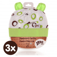 Bamboo Baby Hat XKKO BMB - Lime Bubbles 3x1ps (Wholesale packaging)