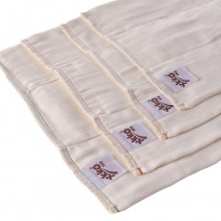 Bamboo Prefolded Diapers XKKO BMB - Premium Natural 24x6ps (Wholesale pack.)
