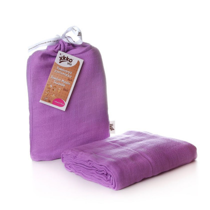 Bamboo swaddle XKKO BMB 120x120 - Lilac