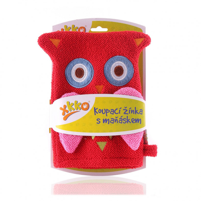 XKKO Cotton Bath Glove - Owl 12x1ps (Wholesale pack.)
