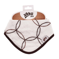 Bamboo bandana XKKO BMB - Natural Brown Circles 3x1ps Wholesale packing