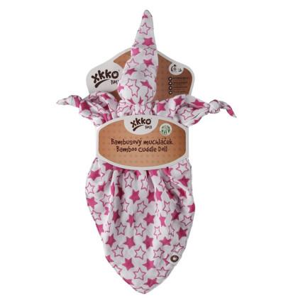 Bamboo cuddly toy XKKO BMB - Little Stars Magenta