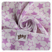 Bamboo muslins XKKO BMB 70x70 - Little Stars Lilac MIX 3pcs