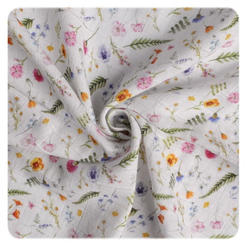Organic Cotton Swaddle XKKO Organic 120x120 - Summer Meadow