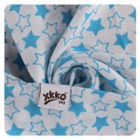 Bamboo muslins XKKO BMB 70x70 - Little Stars Cyan MIX 3pcs