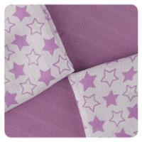 Bamboo muslins XKKO BMB 30x30 - Little Stars Lilac MIX 9pcs