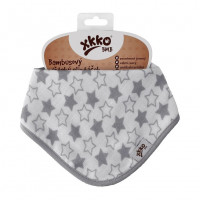 Bamboo bandana XKKO BMB - Little Stars Silver 3x1ps Wholesale packing
