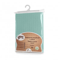 Bamboo muslin fitted bed sheet XKKO BMB 120x60 - Mint
