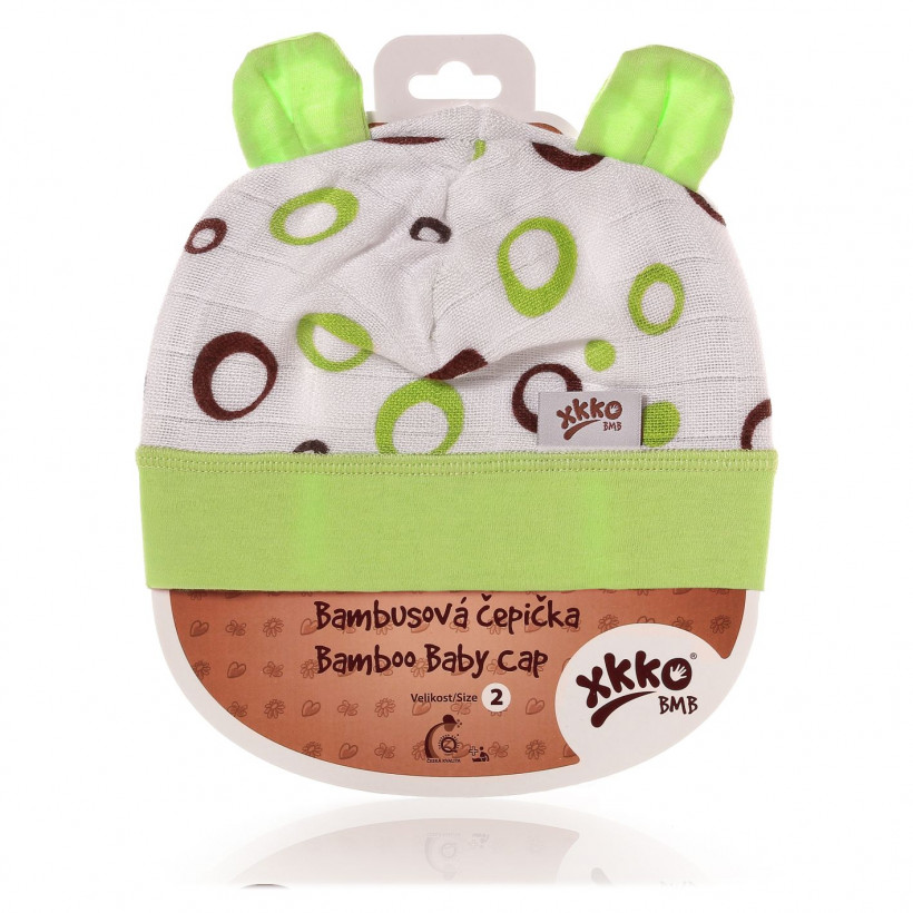 Bamboo Baby Hat XKKO BMB - Lime Bubbles