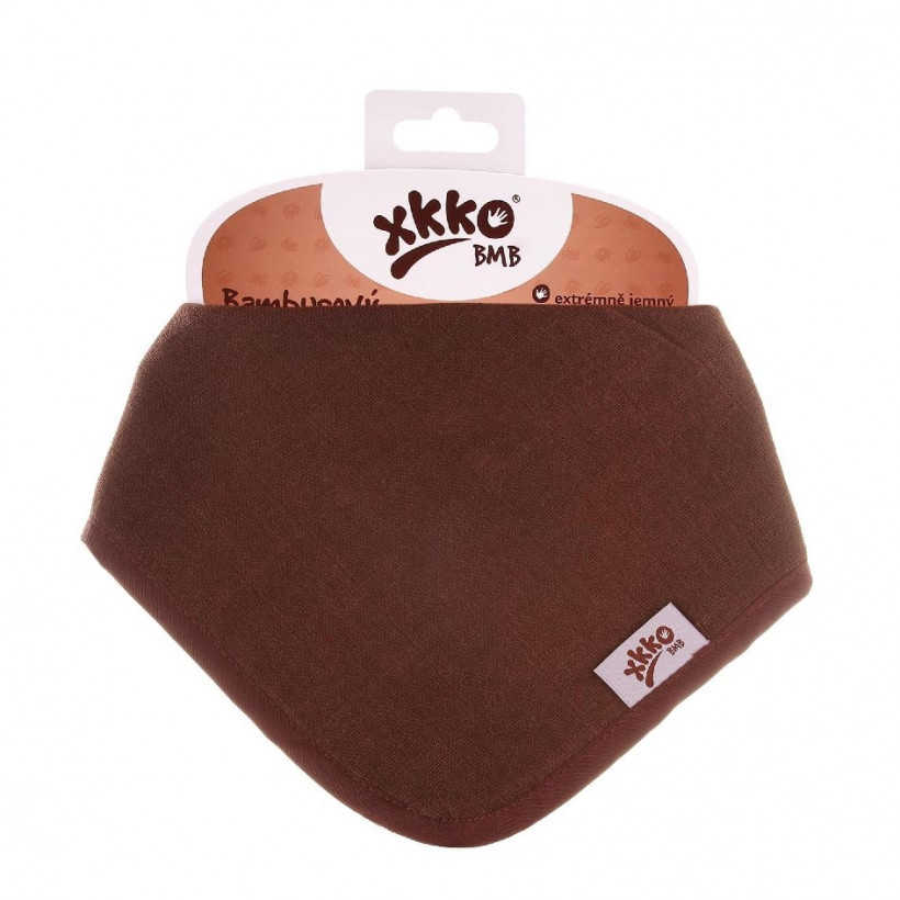 Bamboo bandana XKKO BMB - Dark Choco 3x1ps Wholesale packing