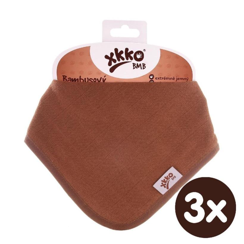 Bamboo bandana XKKO BMB - Milk Choco 3x1ps Wholesale packing