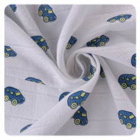 Hight Density Cotton Muslins XKKO LUX 80x80 - Cars 10x3ps  (Wholesale pack.)