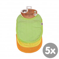 Bamboo Burp Cloth XKKO BMB - Colours MIX 5x3ps (Wholesale packaging)