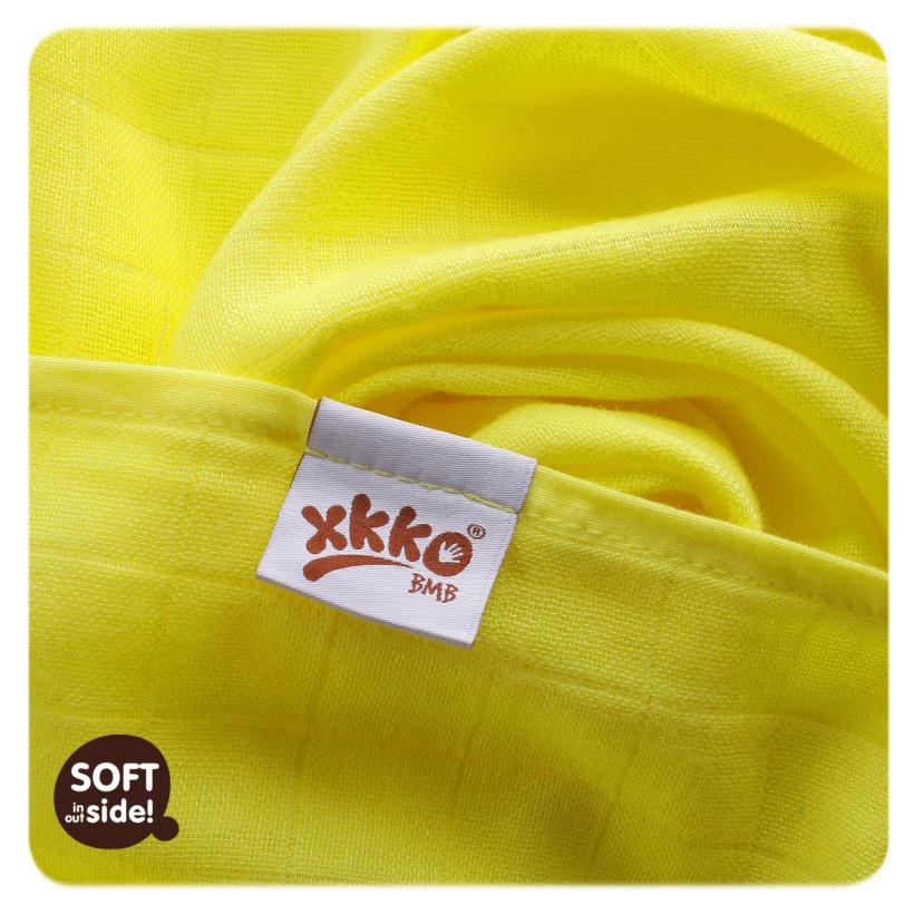 Bamboo muslins XKKO BMB 70x70 - Lemon Stars MIX 3pcs