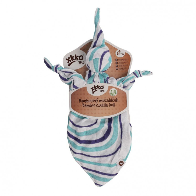 Bamboo cuddly toy XKKO BMB - Ocean Blue Waves