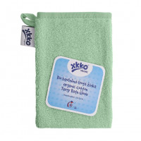 Organic cotton Terry Bath Glove XKKO Organic - Mint 5x1ps (Wholesale pack.)