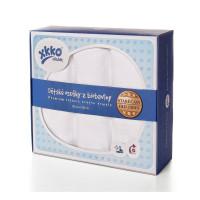 Organic Cotton Muslin Towels XKKO Organic 90x100 Old Times - White