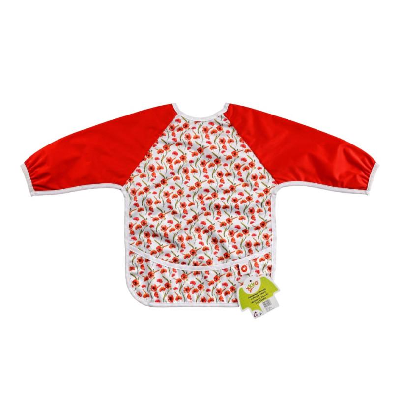 XKKO long-sleeve bib - Red Poppies