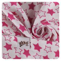 Bamboo muslin towel XKKO BMB 90x100 - LIttle Stars Magenta 10x1pcs (Wholesale packaging)