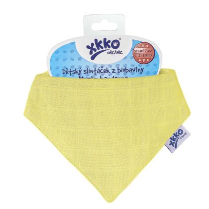 Organic Cotton Muslin Bandana XKKO Organic - Yellow