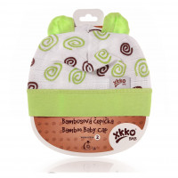 Bamboo Baby Hat XKKO BMB - Lime Spirals 3x1ps (Wholesale packaging)