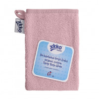 Organic cotton Terry Bath Glove XKKO Organic - Baby Pink
