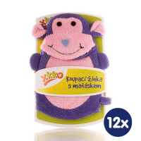 XKKO Polyester Bath Glove - Monkey 12x1ps (Wholesale pack.)