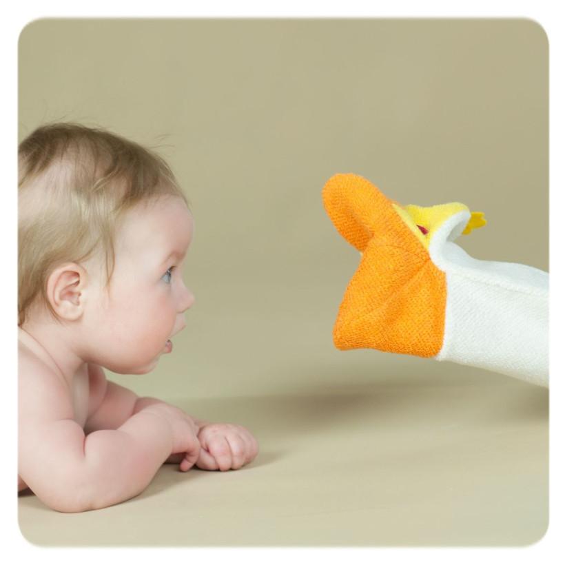 XKKO Cotton Bath Glove - Owl 12x1ps (Wholesale pack.)