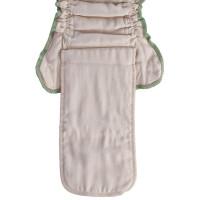 Organic cotton fitted diaper XKKO Organic - Natural Size L