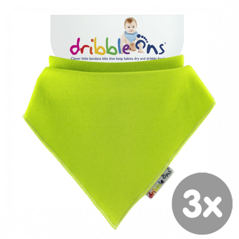 Dribble Ons Lime 3x1ps (Wholesale pack.)