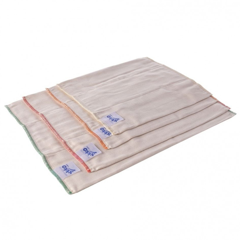 Prefolded Diapers XKKO Organic - Infant Natural 6x6ps (Wholesale pack.)