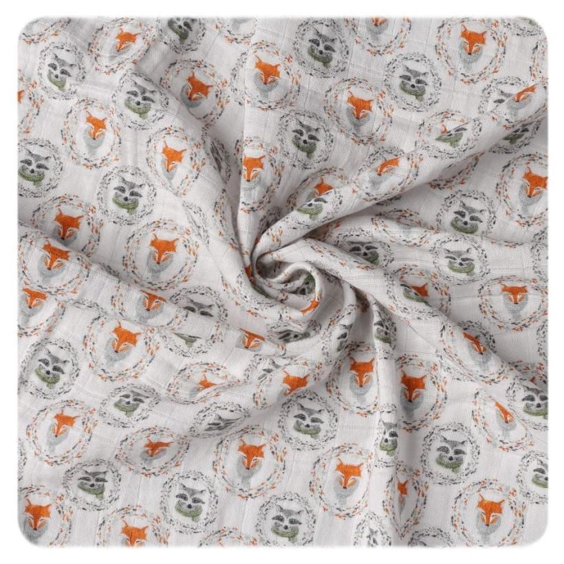 Organic Cotton Swaddle XKKO Organic 120x120 - Fox&Raccoon