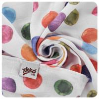 Bamboo muslin towel XKKO BMB 90x100 Digi - Watercolour Polka Dots