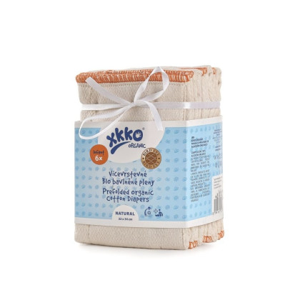 Prefolded Diapers XKKO Organic (4/6/4) - BirdEye Infant Natural