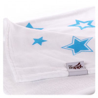 Bamboo blanket XKKO BMB 130x70 - Cyan Stars 5x1ps Wholesale packing